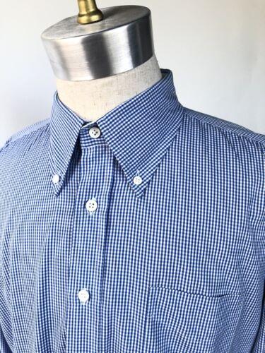 Gant Blue Micro Checkered Shirt Mens Size 2XL