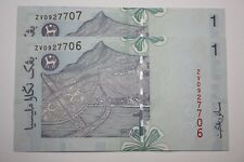 """(PL) RM 1 ZV 0927706-07 UNC 2 PCS ZETI """"Z"""" SERIES PAPER NOTE - LAST PREFIX"""