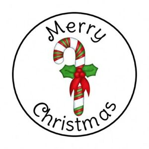 48 merry christmas candy cane envelope seals labels stickers 1 2