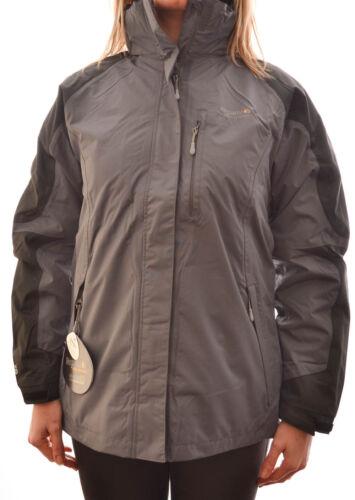 REGATTA LADIES ETTIE 3in1 JACKET COAT GRANITE BLACK WATERPROOF BREATHABLE RWP008