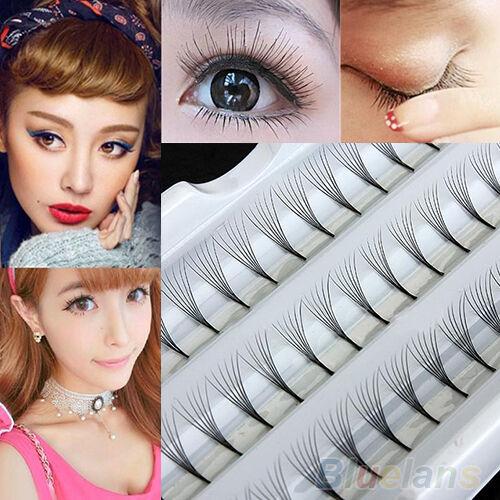 Women Makeup 8/10/12mm False Eyelash Cluster DIY Eye Lashes Extension Utility