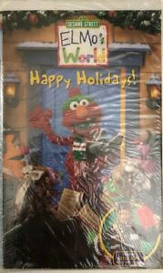 Details About Sesame Street Elmos World Happy Holidays Vhs Tested Rare Ships N 24 Hours
