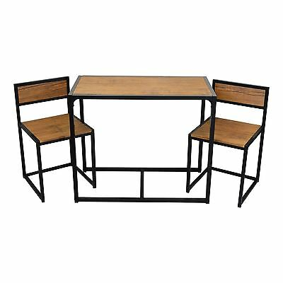 2 Person Space Saving, Compact, Kitchen Dining Table & Chairs Furniture Set
