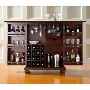 Image Is Loading Bar Cabinet Storage Rack Wine Gles Liquor Bottles