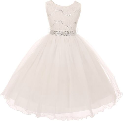 Mint Floral Bling Lace Strap Girl Dress Christmas Graduation Summer Holiday Cute