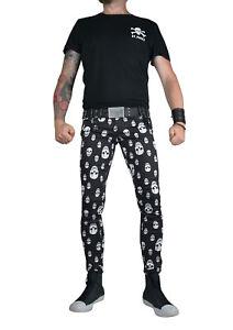 TRIPP WHITE BLACK PLAID SKINNY JEANS TARTAN ROCKSTAR UNISEX FIT PUNK ROCK PANTS