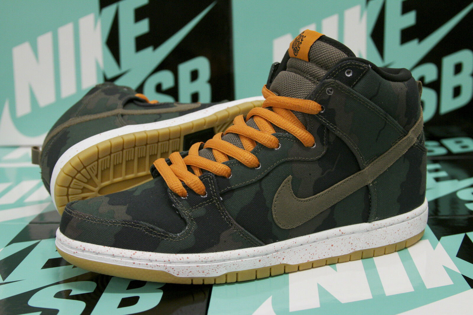 Nike SB Dunk High Premium FiveOneO - Camo / Olive Sunset - 646552 037 Benny Gold