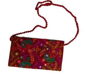 Vintage Banjara Bag Hand Embroidered Banjara Clutch Handmade Banjara Mini Laptop Bag Gypsy Women Hand Bag Ethnic Coin Clutch Wallet Purse