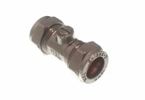 Lot-Of-8-15Mm-Isolating-Ball-Stop-Valve-Compression-Joint-Crome-plated