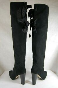 O-JOUR-MADE-IN-ITALY-HIGH-HEEL-BLACK-SUEDE-OVER-THE-KNEE-BOOTS-EU-39-US-8-5