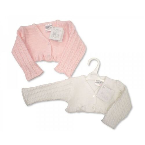 6 months Baby Girls Clothes Spanish Style Bolero cardigan pink white Newborn