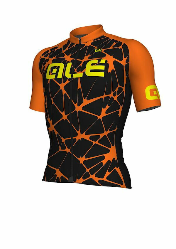 Trikot ALE' CRACLE noir Orange FLUO Größe S