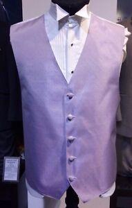 """Men's Perry Ellis Lilac Lavender Color """"Ritz"""" Pattern Formal Tuxedo Vest"""