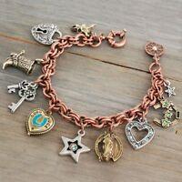 Sweet Romance Southwestern Trading Post Charm Bracelet Horse, Hearts& More