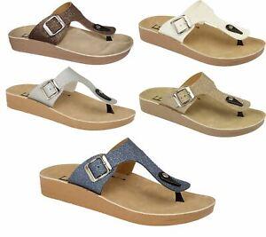Womens Toe Post Mule Ladies Slippers