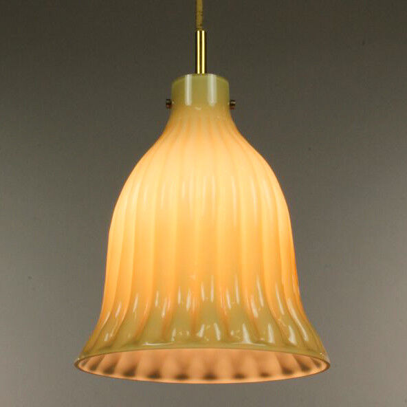 VTG Doria Leuchte Pendant Bell Lamp Hollwood Regency Crown Style 60er 70er Jahre