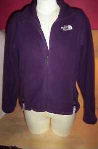 Women-039-s-THE-NORTH-FACE-Dark-Purple-Small-Fleece-Polartec-Full-Zip-Fleece-Jacket