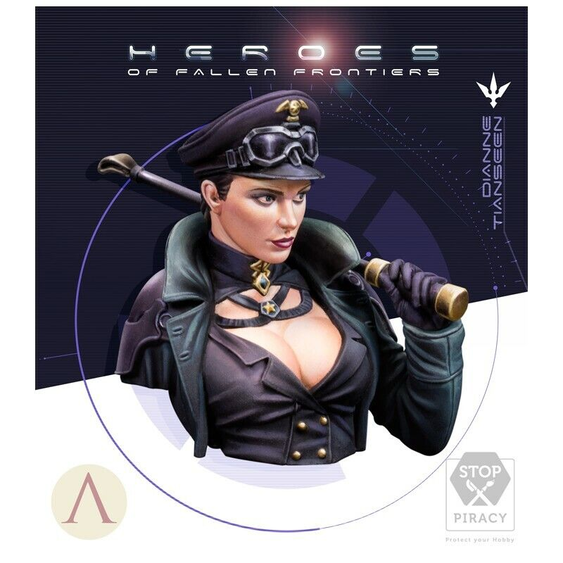 Dianne Tianssen Bust, Scale 75, 1 12th Scale Resin Bust Kit, HHF-001