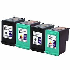 4PKs HP 94 97 #97 Ink Cartridge C8765WN C8763WN HP94 HP97 For Deskjet 6620 6840