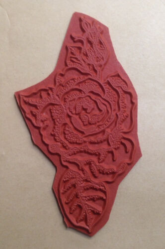 Rose with Bud Gardening Unmounted Rubber Stamp Floral Roses Flower Flowers