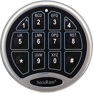 securam electronic digital keypad lock for gun any safe. Black Bedroom Furniture Sets. Home Design Ideas
