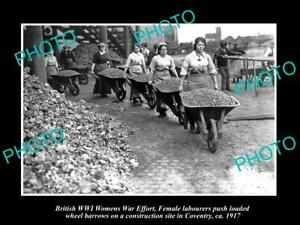 OLD-POSTCARD-SIZE-PHOTO-OF-BRITISH-WWI-WOMENS-WAR-EFFORT-FEMALE-LABOURERS-1917