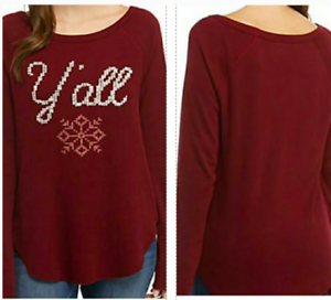 True Craft Thermal Long Sleeves Shirt Burgundy Red Size Jr S