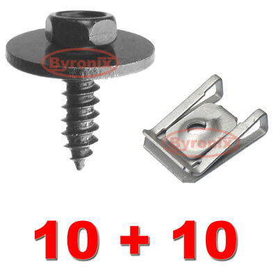For BMW E81 E87 E82 E46 UNDERTRAY SPLASH GUARD CLIPS SCREWS ENGINE UNDER COVER