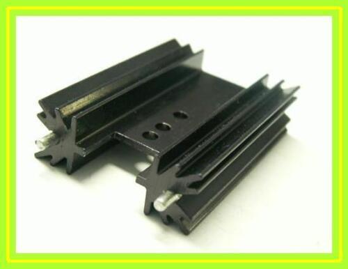 Dissipatore di calore alluminio nero 4 pezzi chassis to220