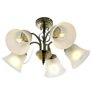 Details About Argos Home Elisa 5 Light Ceiling Ing Antique Br