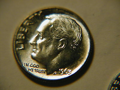 1963-D Roosevelt Dime    Choice//Gem Uncirculated Free Shipping
