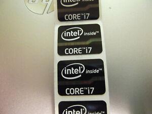 100 LOT Intel Core i7 Inside 15.5mm x 21mm Sticker Label Logo Decal Case Badge