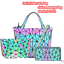 Luminous-Women-Geometric-laser-Tote-Shoulder-Bags-Laser-Plain-Folding-Handbags thumbnail 43