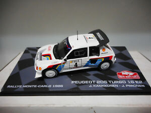 PEUGEOT-205-T16-E2-RALLY-MONTE-CARLO-1986-KANKKUNEN-EAGLEMOSS-IXO-1-43