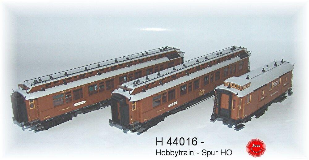 Hobbytrain 44016  - Wagen-Set  Wien-Nizza-Cannes Express 3-tlg. Set 1 AC Spur HO  | Glücklicher Startpunkt