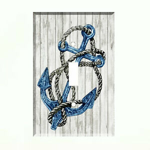 Anchor-Nautical-on-Distressed-Weathered-Wood-Light-Switch-Plate-Wall-Cover