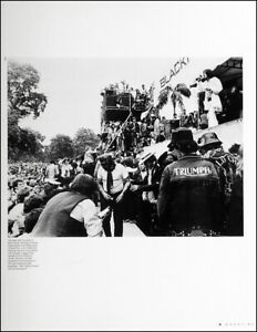 Details about THE ROLLING STONES POSTER PAGE   1969 HYDE PARK LONDON  CONCERT HELLS ANGELS 3Q14