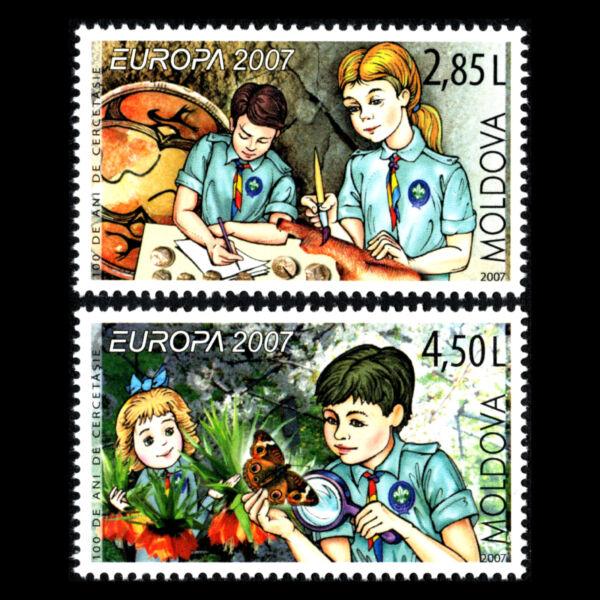 Logique Moldova 2007-europa Timbres-le 100th Anniversaire Du Scoutisme-sc 574/5 Neuf Sans Charnière