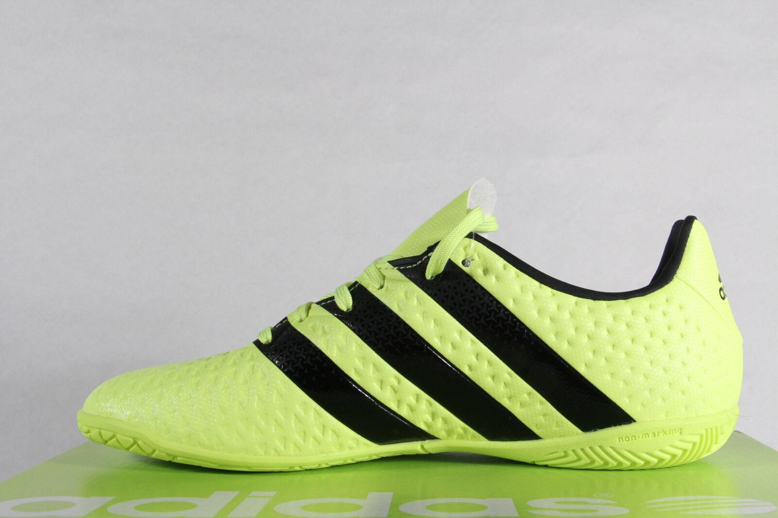 Adidas Uomo Scarpe con lacci lacci lacci scarpe da ginnastica ACE 16.4 Court Giallo NUOVO   In Uso Durevole  80753f