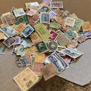 BOX-LOT-WW-STAMP-LOT-1-000-s-OF-OFF-PAPER-STAMPS-50-INTERNATIONAL-COUNTRIES