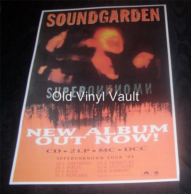 Soundgarden Concert Poster Repro Germany 1994