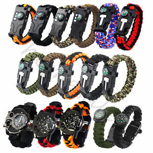 5-13-in1-Outdoor-Survival-Bracelet-Paracord-Whistle-Gear-Flint-Compass-Tools-Kit