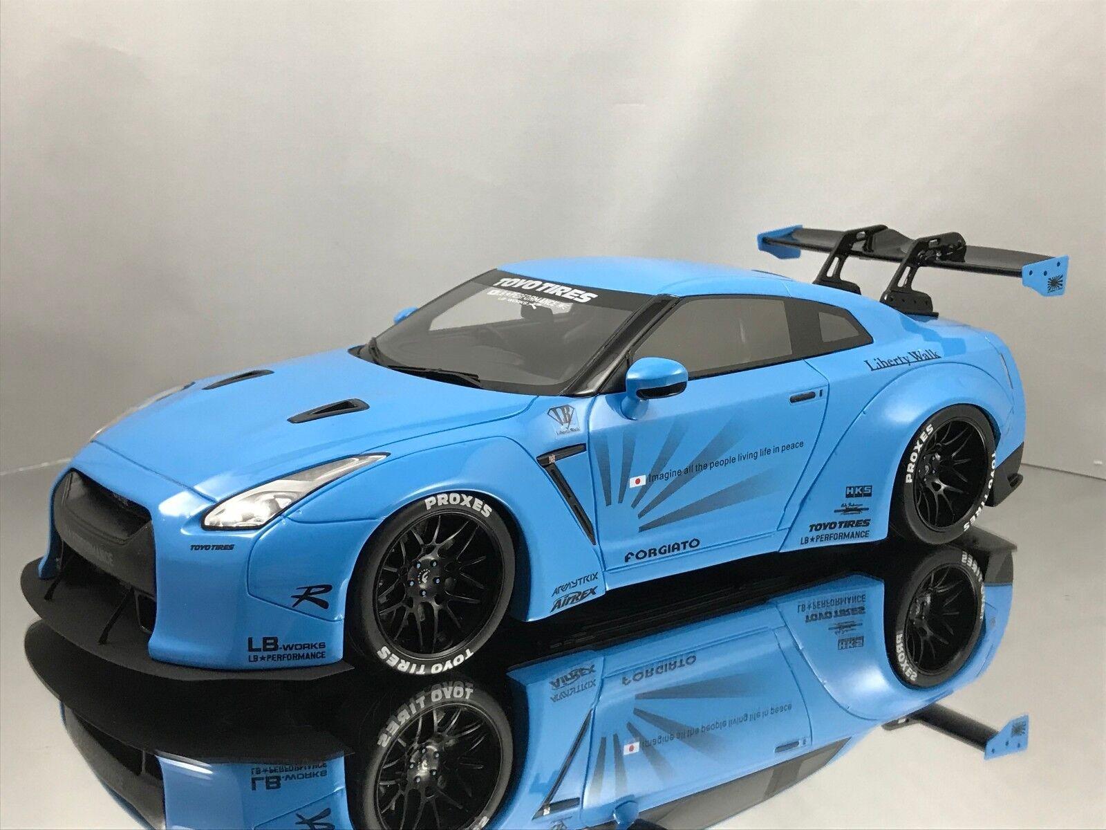 GT anda Nissan GT -R (R35) LB Performance arbetar Liberty promänad blå 1 18