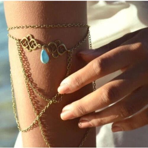 Turkis Oberarmband Boho Quaste Armband Armschmuck Armkette armreif  Mode