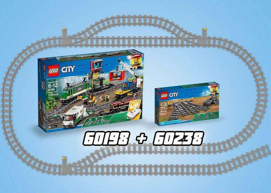 Lego City 60198 train de marchandises  voiturego Train + 60238 Pat douce Commutateurs n9 18  magasin d'offre