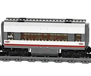 Lego city treno 60051 vagone passeggeri eurostar, espansione carrozza, da italia