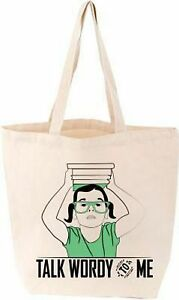 Talk-Wordy-to-Me-Tote-English-Literature-Library-Book-Club-Canvas-Cotton-Bag