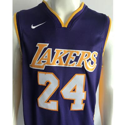 Kobe Bryant #24 Los Angeles Lakers Purple Hardwood Men's Jersey ...