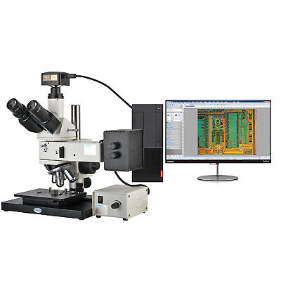 KOPPACE 5 Million Pixels 50X-500X Trinocular Metallurgical Microscope USB2.0 Camera Provide Image Measurement Software