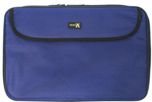 Blu NUOVO 17 17,4 Pollici Resistente Notebook Portatile Borsa da trasporto Custodia
